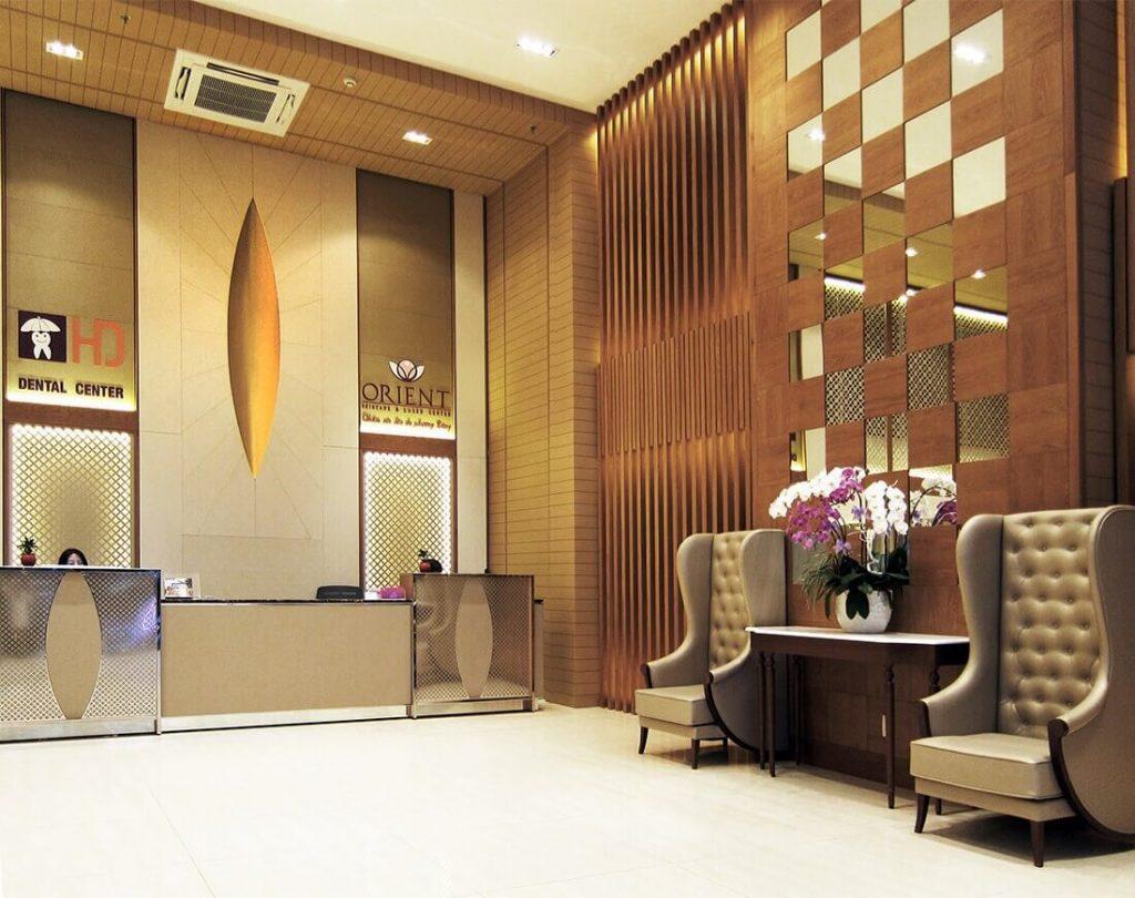 thi công nội thất thẩm mỹ viện Orient