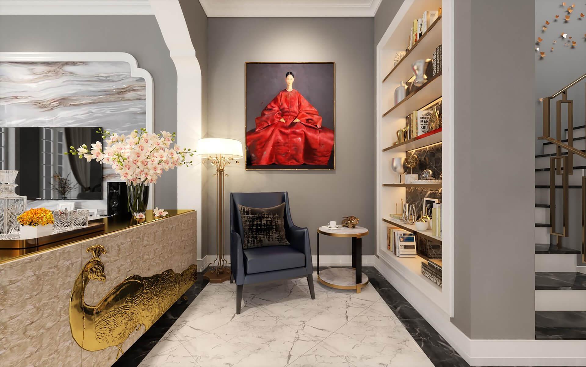nội thất phòng khách đẹp 2021